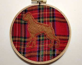 "4"" Boxer Embroidery Hoop Ornament"