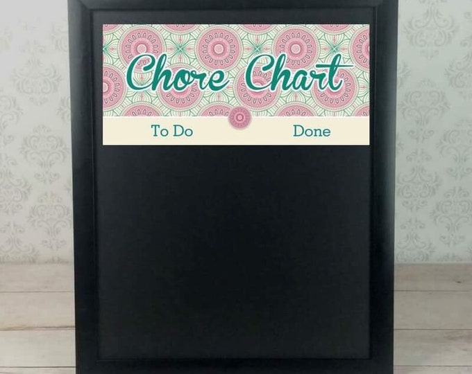 Mandala Chore Charts - Kids Jobs - Magnetic Chore Chart - Chore Magnets - Behavior Chart - Responsibility - Pink - Custom - Personalized