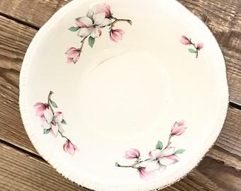 Vintage Homer Laughlin Pink Magnolia Round Vegetable Serving Bowl