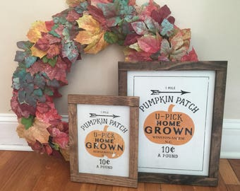 Rustic Pumpkin Farm sign (Customizable for town/state)
