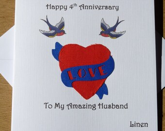 4th wedding anniversary linen four years gift