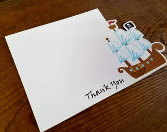 Yo Ho Pirate Party - Set of 8 Pirate Ship Thank You Cards by The Birthday House