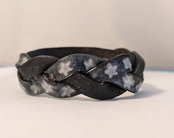 Braided Starry Leather Bracelet