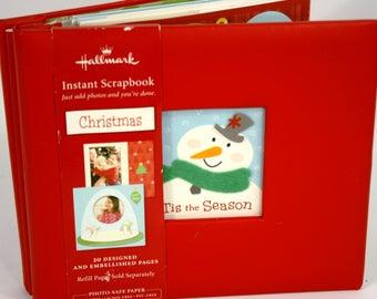 Hallmark Instant Christmas Scrapbook 20 Designed & Embellished Pages 9x9