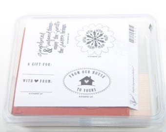 Stampin Up, Sweet Season, Gift, From Our House To Yours, Vintage, Stamp Set, In a Box, Scrapbooking, Card Making ~ Sir Stampinton ~ 161009