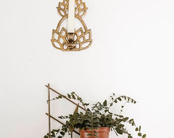 Brass Pineapple Hanging Candle Holder