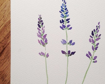"Lavender Watercolor 5"" x 7"" Print"