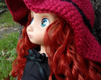 Crochet Floppy Hat for Disney Animator Dolls, Disney Animator Doll Clothes, Fall Autumn Hat, Winter Hat, Doll Clothes, 16 inch Doll Clothes