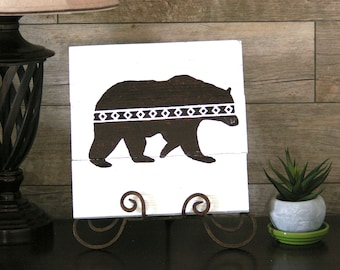 Brown Bear Hand Painted Sign