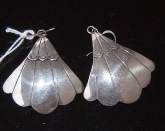 Vintage Native American earrings, sterling silver, artistic