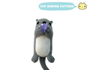 Otter Toy Plush Pattern, Otter Plush Sewing, Stuffed Otter Toy, DIY Otter, Plush Animal Pattern, Stuffed Otter Pattern, Otter Plushie PDF