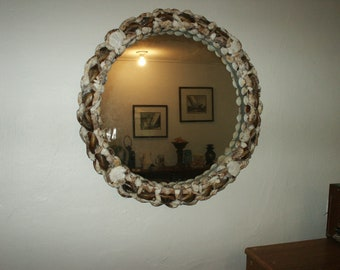 Seashell Antique Round  Mirror