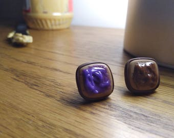 Peanut Butter and Jelly Stud Earrings