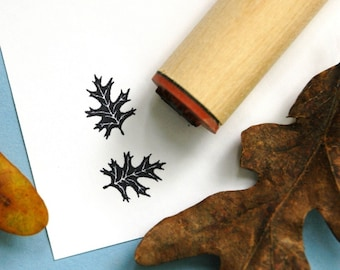 Red Oak Solid Rubber Stamp