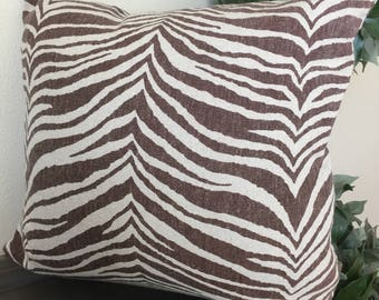 Brown Animal Print  22 x 22 Pillow Cover