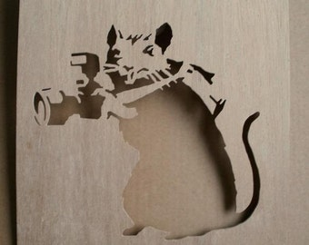 Banksy Rat Photographer Stencil