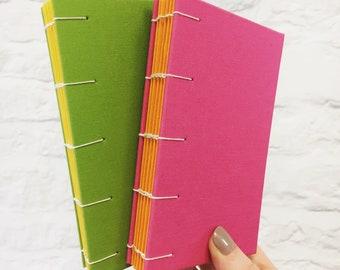 Medium size Bright and summery handbound notebooks