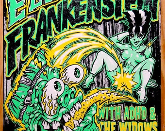 BigToe Electric Frankenstein Screenprint Poster