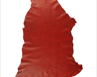 "A757 P-skin ""VOLCANUS"" PLUNGED lambskin printed red - Xl / /."