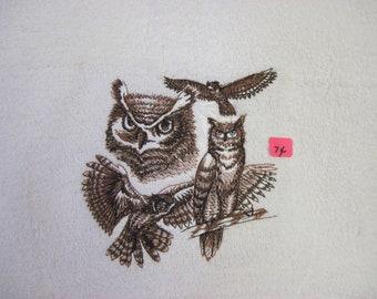 great horned owl sketch