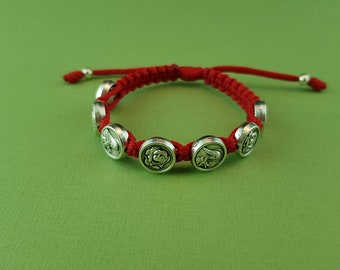Saint Therese of Lisieux, Therese little flower kids 7 handwoven bracelet
