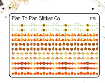 1475-S~~Autumn Dividers/Borders Planner Stickers.