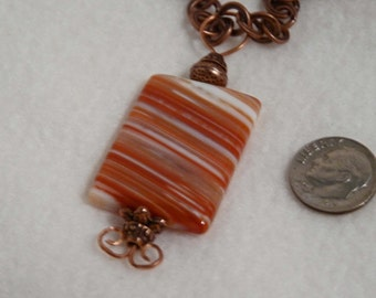 Necklaces, 18in, Sardonyx, Copper, U-Choose  4884, 4870