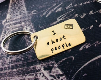 I shoot people keyring