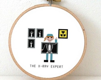 2 x painter cross stitch pattern male and female house 2 x ray expert cross stitch patterns x ray nurse gift embroidery solutioingenieria Images