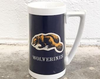 Vintage Thermo Serv Mug - Michigan Wolverines