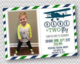 TWO Fly Birthday Invite
