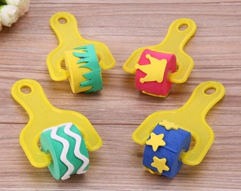 Kids arts and crafts for children sponge rollers
