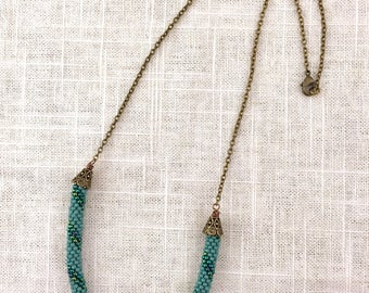 Bead Crochet Rope & Chain Necklace