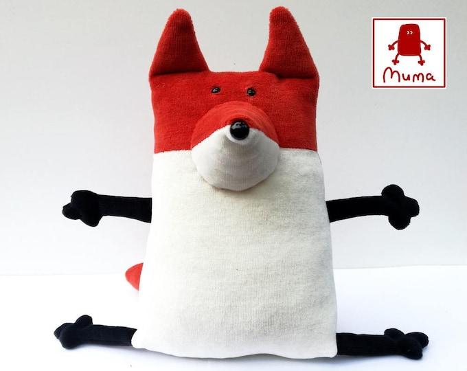 Funny plush toy, Woodland plushie, Stuffed animal toy, Muma Rusty Fox Plushie, Little Pocket Foxy Stuffie Toy, Funny Red Fox Pocket Plush