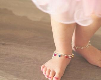 Baby Anklet Bell Bracelet in Gold or Silver | Ankle Bracelet | Boho Wedding | Girl's Jewelry | Ballerina Birthday | Toddler Gift