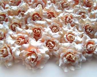 Silk flower heads wholesale silk roses heads 100 flowers 10cm 100 cream mini roses heads artificial silk flower 175 inches wholesale lot for wedding work make hair clips headbands hats mightylinksfo