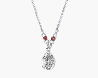 Kali Garnet Necklace, Goddess Kali Necklace, Garnet Necklace, Goddess Necklace