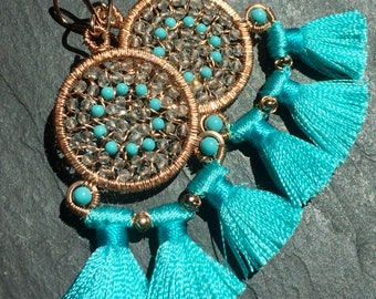 Carnival Earrings in Turquoise