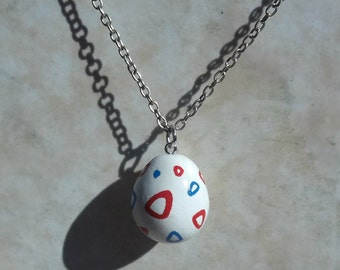 Togepi Egg Pokemon Clay Charm Necklace