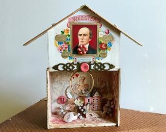 Assemblage Art, Assemblage, Mixed media Art, Little Pink Houses, Love Shack