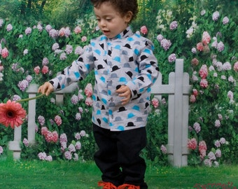 Baby trousers in black cotton