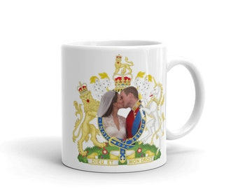 Prince William and Kate Wedding Kiss Ceramic Mug 11oz.