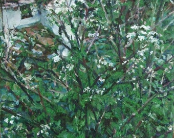 Flower oil painting etsy uk white flowers a small landscape oil painting on canvas mightylinksfo