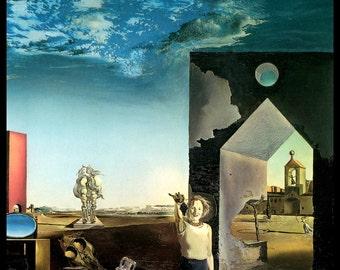 "Dali, Salvadore Dali, Salvadore Dali Print, Strange, Altered Art, Surrealism, Surrealist, Dali Print, Vintage, ""Of Paranoic Critical Town"""