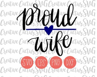Police Wife SVG | Thin Blue Line SVG | Back the Blue SVG | Police | Thin Blue Line | Police Wife | Hand lettered | Cutting File