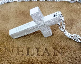 18k gold cross etsy 18k solid gold cross mens gold cross baptism cross matte gold cross cross pendant white gold cross catholic man cross 14k mens cross aloadofball Image collections