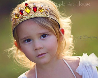 Belle Crown, Birthday  princess Belle Crown, costume, The Beauty And The Beast Belle Crown, Belle tiara, Belle birthday, PrincessCrown,