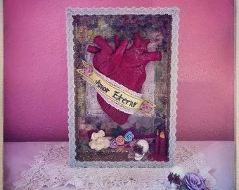 Amor Eterno Heart Ceramic Shrine Altar