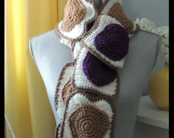 PATTERN Peanut Butter and Jelly Crochet Scarf