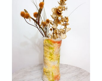 Wet Felted Wool Vase Cover or Luminary